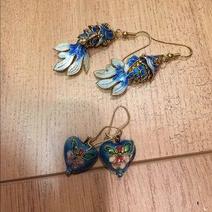 Jewelry - Cloisonné earring bundle
